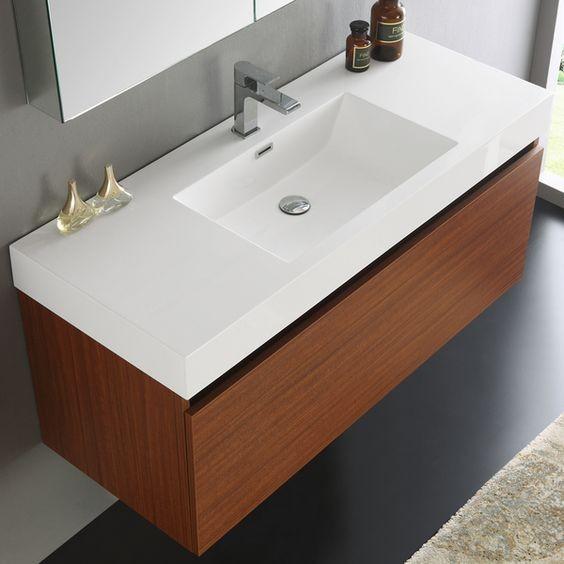 Beyaz Akrilik Banyo Lavabosu