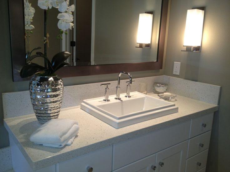 Simli Beyaz Çimstone Banyo Tezgah Fiyatı
