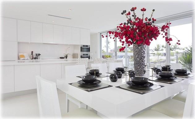 Beyaz Corian Mutfak Tezgahı