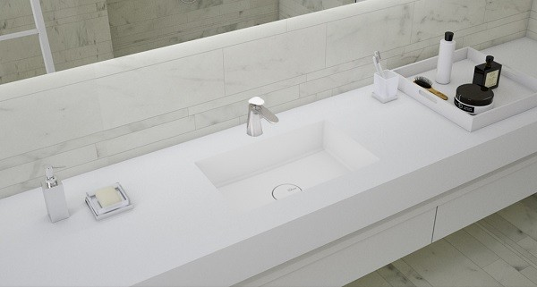 Uygun Fiyatlı Corian Banyo Tezgahı