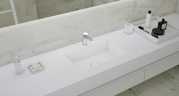 Yekpare Banyo Lavabo Tezgah