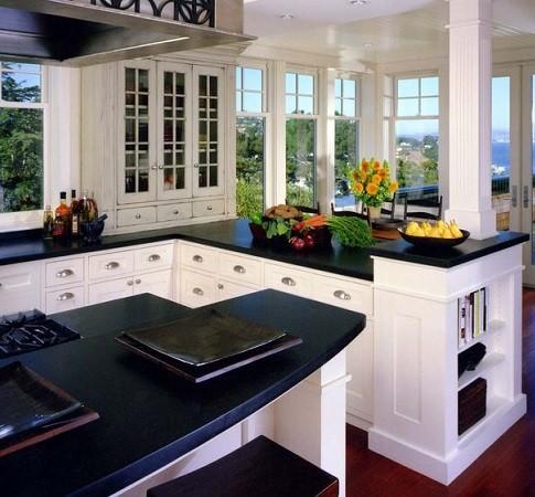 Siyah Corian Mutfak Tezgahı