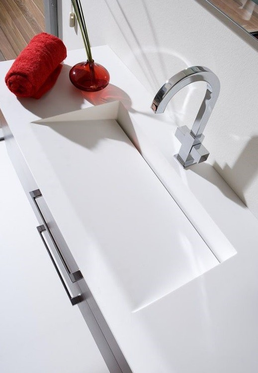 Beyaz Corian Lavabo Tezgah Fiyatı
