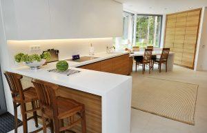 Corian L Tipi Mutfak Tezgahı