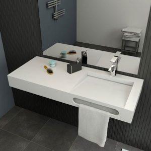 Yalak Lavabolu Akrilik Banyo Tezgahı