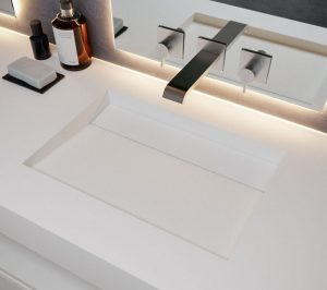 Halkalı Corian Banyo Lavabosu