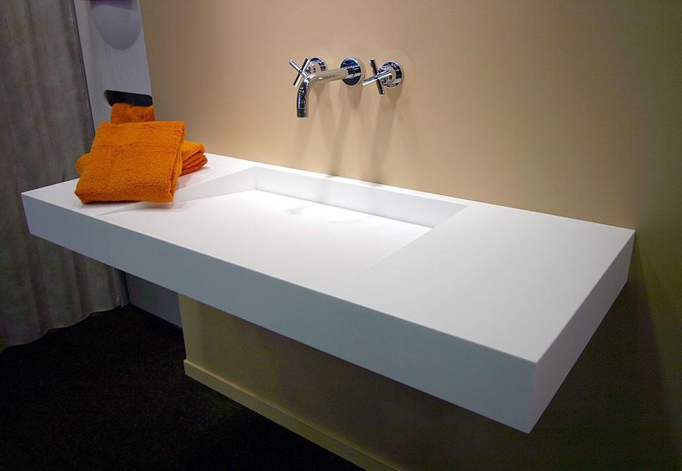 Halkalı Corian Banyo Tezgahı