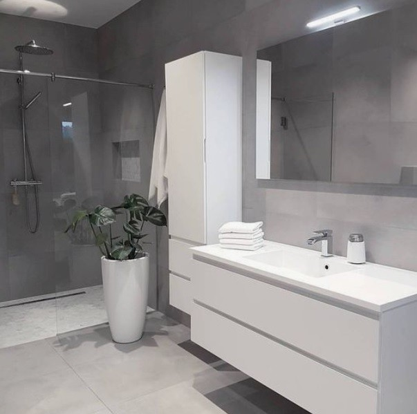 Avrupa Konutları Corian Banyo Tezgahı