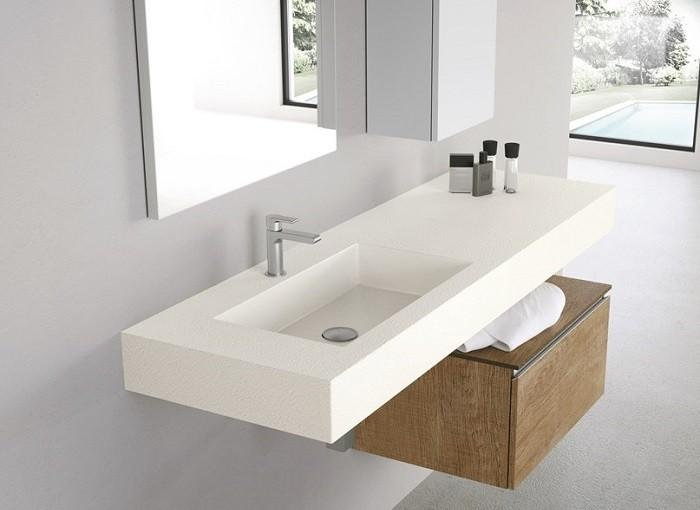 Kepez Corian Banyo Lavabosu