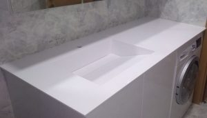 Alaplı Corian Banyo Tezgahı