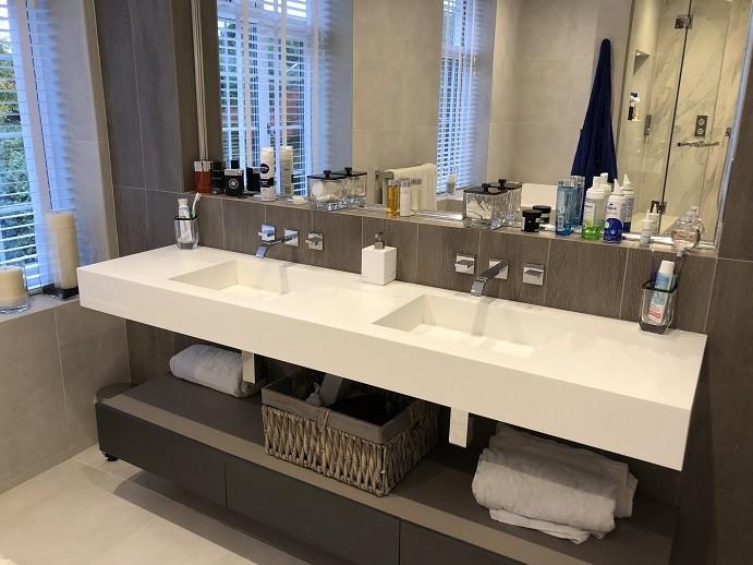 Menemen Corian Banyo Tezgahı