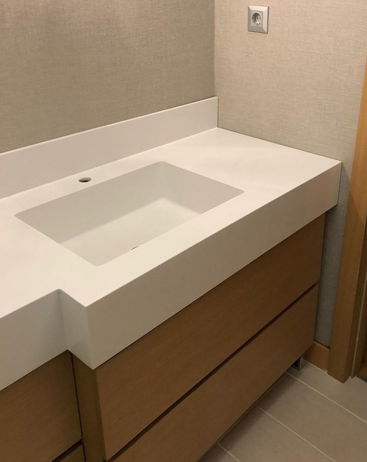 Ispartakule Corian Banyo Tezgahı